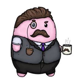 Brief Battles 'Professor Tubbins' character art